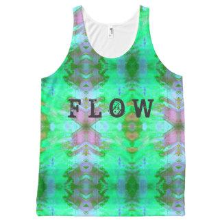 Camiseta De Tirantes Con Estampado Integral El flujo entintó grunge