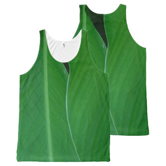 Camiseta De Tirantes Con Estampado Integral El lirio de canna verde sale de la foto