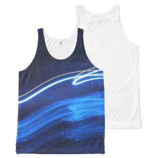 Camiseta De Tirantes Con Estampado Integral El tanque azul de neón de Lites 2