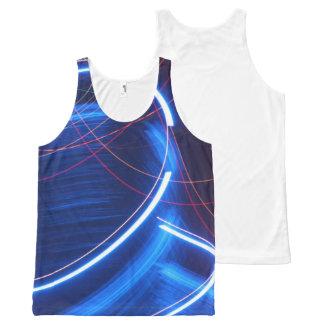 Camiseta De Tirantes Con Estampado Integral El tanque de neón de Lites del anillo