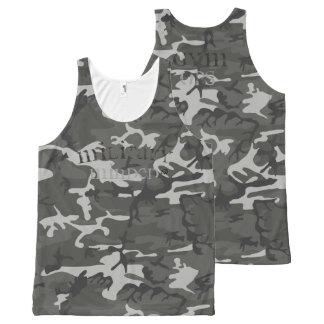 Camiseta De Tirantes Con Estampado Integral El tanque entero importado militar de Camo de la