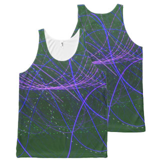 Camiseta De Tirantes Con Estampado Integral El tanque púrpura de Lites del lazo