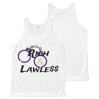 Camiseta De Tirantes Con Estampado Integral El tanque rico y sin ley