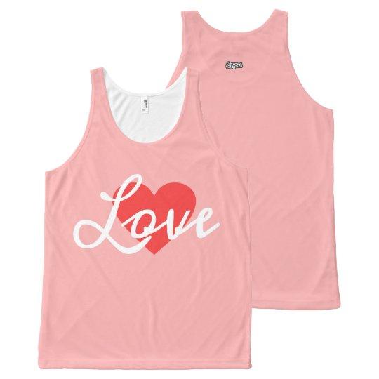 Camiseta De Tirantes Con Estampado Integral El TANQUE rosado del amor