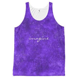 Camiseta De Tirantes Con Estampado Integral El tanque ultravioleta de encargo