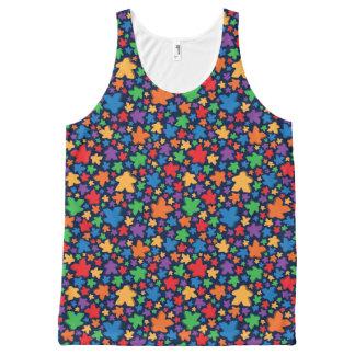 Camiseta De Tirantes Con Estampado Integral El tanque unisex de la impresión de Meeple