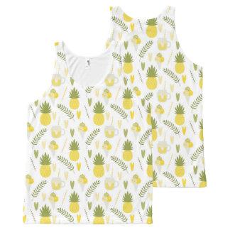 Camiseta De Tirantes Con Estampado Integral el tanque unisex de los modelos de la fruta y del