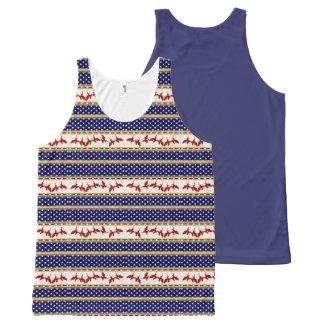 Camiseta De Tirantes Con Estampado Integral El tanque unisex de los niños rojos de Eagle calvo