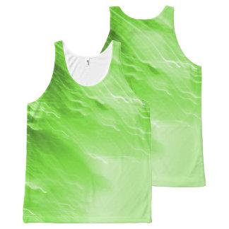 Camiseta De Tirantes Con Estampado Integral El tanque verde de Lites que cae