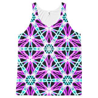 Camiseta De Tirantes Con Estampado Integral El teñido anudado brillante de los años 80 inspiró