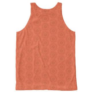 Camiseta De Tirantes Con Estampado Integral Espirales anaranjados