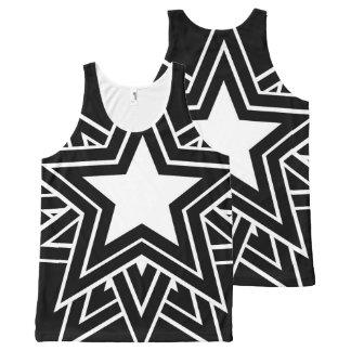 Camiseta De Tirantes Con Estampado Integral estrella negra