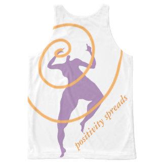 Camiseta De Tirantes Con Estampado Integral Extensiones de la positividad por todo la camisa