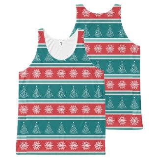 Camiseta De Tirantes Con Estampado Integral Felices Navidad