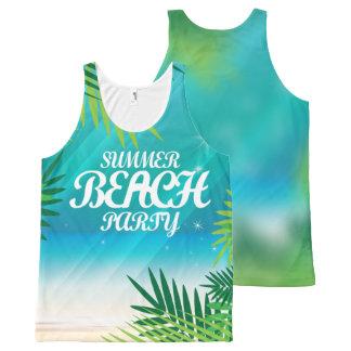 Camiseta De Tirantes Con Estampado Integral Fiesta de la playa del verano