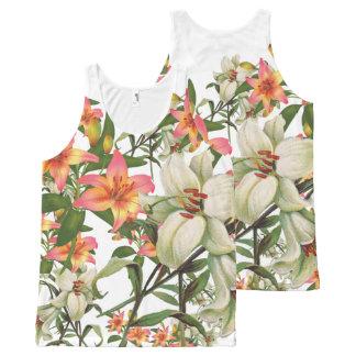 Camiseta De Tirantes Con Estampado Integral flor 300 combinados