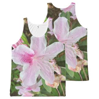 Camiseta De Tirantes Con Estampado Integral Flor rosa clara