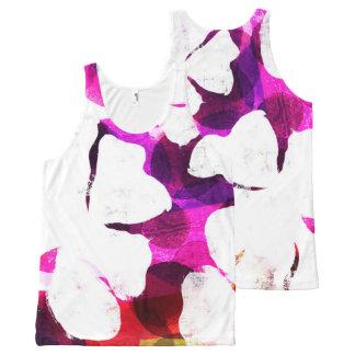 Camiseta De Tirantes Con Estampado Integral Floración grande