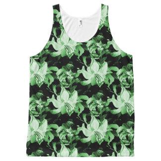 Camiseta De Tirantes Con Estampado Integral Floral verde
