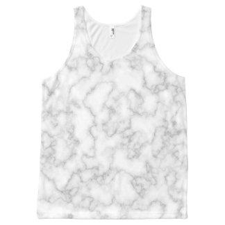 Camiseta De Tirantes Con Estampado Integral Fondo veteado del modelo de la piedra del mármol