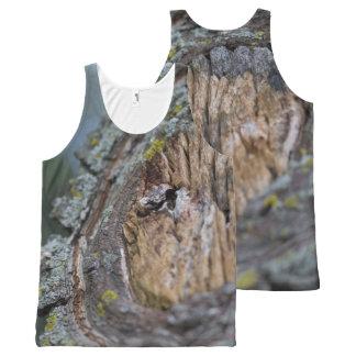 Camiseta De Tirantes Con Estampado Integral Fotografía del tocón de árbol
