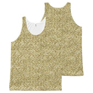 Camiseta De Tirantes Con Estampado Integral galón del oro