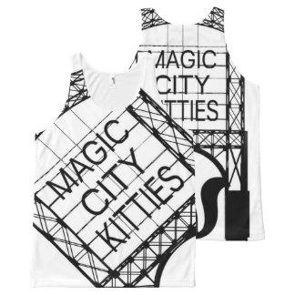 Camiseta De Tirantes Con Estampado Integral Gatitos mágicos de la ciudad por todo el tanque