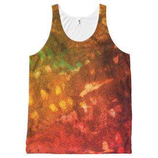 Camiseta De Tirantes Con Estampado Integral Grunge entintado