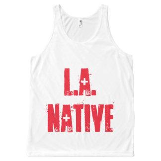 Camiseta De Tirantes Con Estampado Integral L.A. Natural: Raro como diamantes