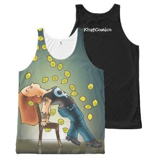 Camiseta De Tirantes Con Estampado Integral La vida es un limón