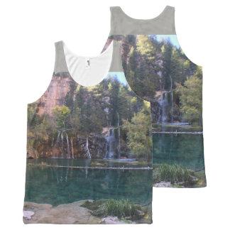 Camiseta De Tirantes Con Estampado Integral Lago colgante