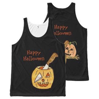 Camiseta De Tirantes Con Estampado Integral Linterna Halloween de Jack-o