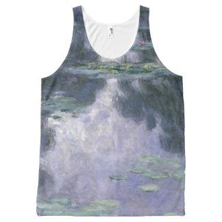 Camiseta De Tirantes Con Estampado Integral Lirios de agua de Claude Monet Nymphéas 1907
