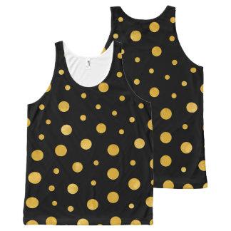 Camiseta De Tirantes Con Estampado Integral Lunares elegantes - oro negro