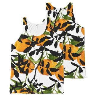 Camiseta De Tirantes Con Estampado Integral Mandarines de ocultación
