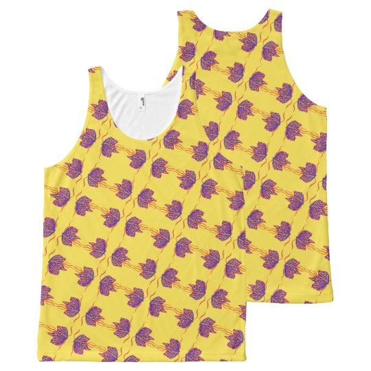 Camiseta De Tirantes Con Estampado Integral Mariposa Mabelle
