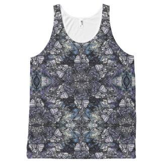 Camiseta De Tirantes Con Estampado Integral Mármol de Tiffany
