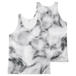 Camiseta De Tirantes Con Estampado Integral Mármol elegante style2