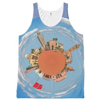 Camiseta De Tirantes Con Estampado Integral Marrakesh poco lan del turismo del viaje de