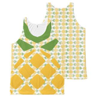 Camiseta De Tirantes Con Estampado Integral Modelo de la piña