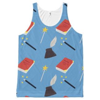 Camiseta De Tirantes Con Estampado Integral Modelo lindo del cuento de hadas