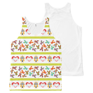 Camiseta De Tirantes Con Estampado Integral Modelo psico de Pascua colorido