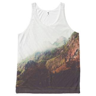 Camiseta De Tirantes Con Estampado Integral Montañas, Wanderlust, aventura, naturaleza de