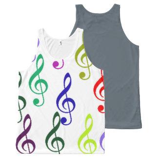 Camiseta De Tirantes Con Estampado Integral música