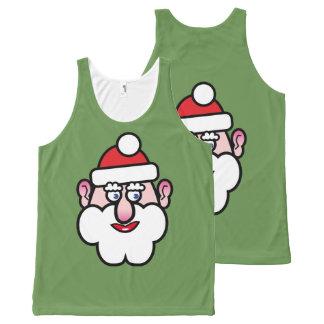 Camiseta De Tirantes Con Estampado Integral Navidad Papá Noel 1,0
