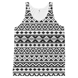 Camiseta De Tirantes Con Estampado Integral Negro y blanco aztecas de IIb del modelo de la