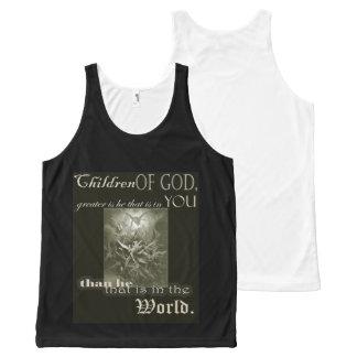 Camiseta De Tirantes Con Estampado Integral Niños del tanque de dios