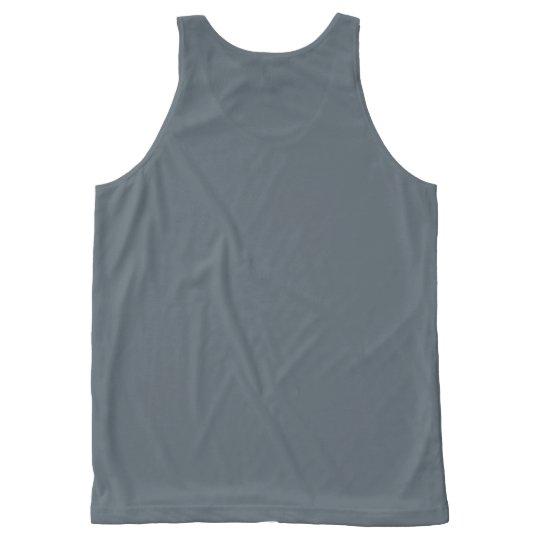 Camiseta De Tirantes Con Estampado Integral no es usted. es sus frentes. el ||| {el TANQUE}
