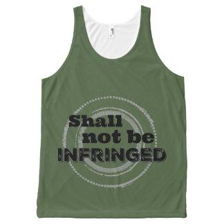 Camiseta De Tirantes Con Estampado Integral No será infringido - segunda enmienda