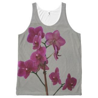 Camiseta De Tirantes Con Estampado Integral Orquídeas púrpuras